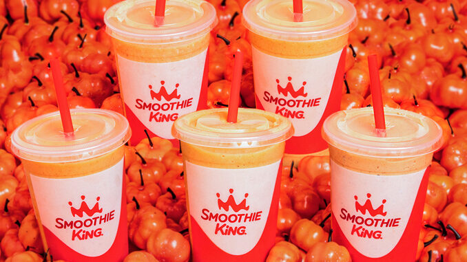 Keto Champ Pumpkin Smoothie Debuts At Smoothie King On August 31, 2021