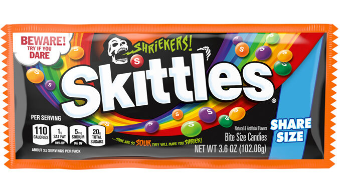 Mars Wrigley Launches New Limited-Edition Skittles Shriekers For Halloween 2021