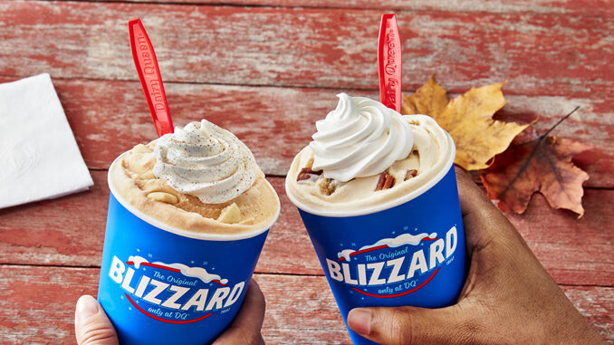 Dairy Queen Adds New Pecan Pie Blizzard As Part Of Larger 2021 Fall Blizzard Lineup
