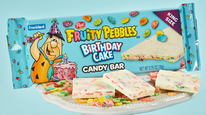 Frankford Candy Launches New Fruity Pebbles Birthday Cake Candy Bar At Walmart
