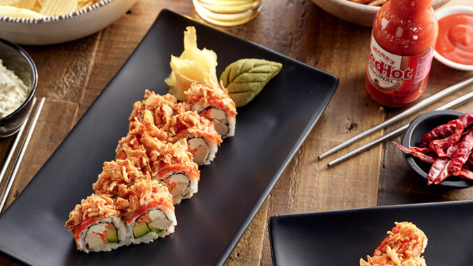 Hissho Sushi Launches New Franks RedHot Crunchy Buffalo Chicken Roll Nationwide