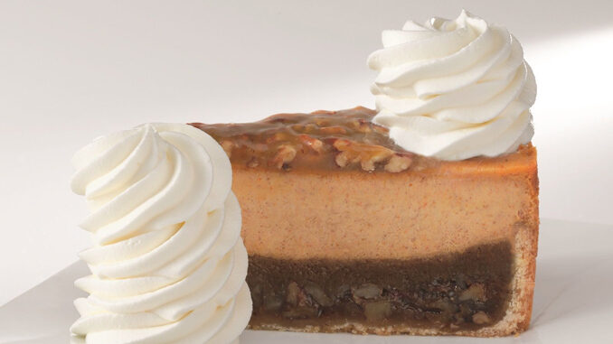 Pumpkin And Pumpkin Pecan Cheesecakes Are Back At The Cheesecake Factory