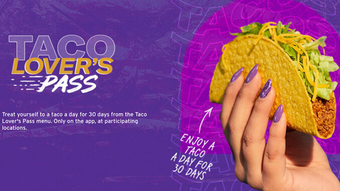 Taco Bell Tests 30-Day Taco Subscription Service