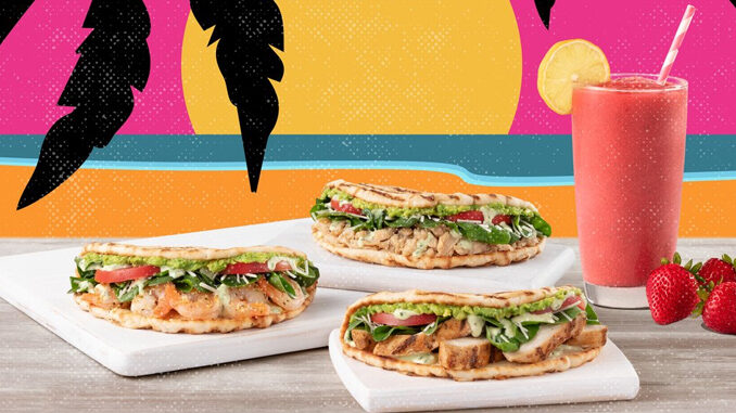 Tropical Smoothie Cafe Adds New Green Goddess Flatbread And Strawberry Chia Lemonade Smoothie
