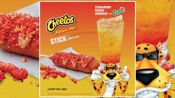 Hot Dog On A Stick Launches New Cheetos Flamin' Hot Stick And New Strawberry Mango Lemonade With Tajin